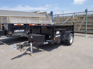 rental 2 yard dump trailer