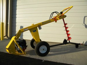 lawn & garden rental Pusharound post hole digger