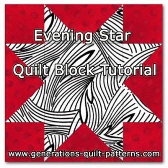 Evening Star quilt block