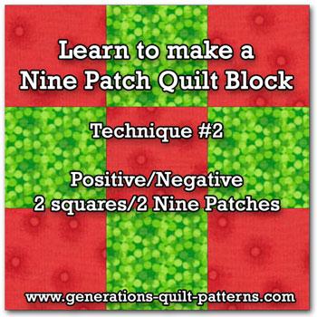 Nine-patch block