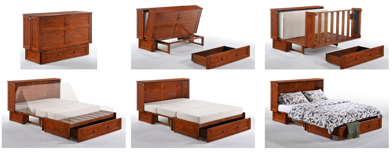 Murphy Mandalay Cabinet Bed w Matt  Generations Home