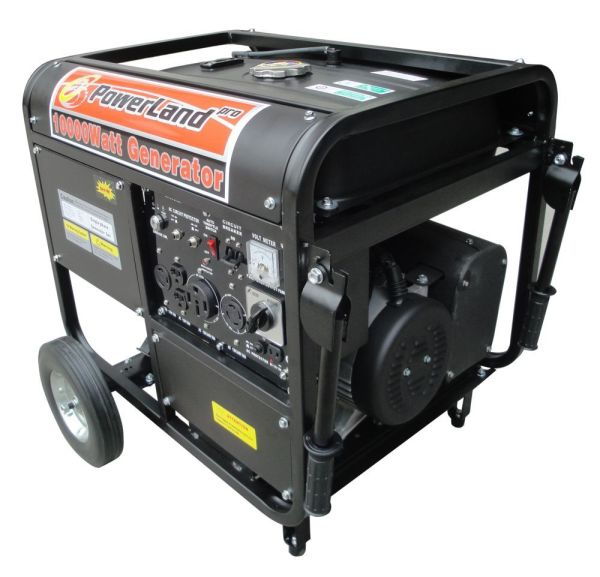 Powerland Duromax Xp10000w-50amp- Gas Generator 16 Hp Electric Start Auto Idle Control- Oil