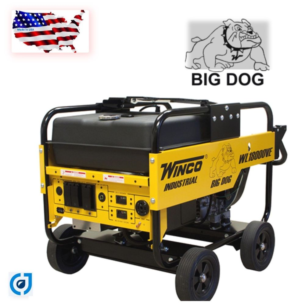 medium resolution of save big now winco wl18000ve industrial portable generator with electric start battery included 18 000 maximum watts 15 000 continuous watts