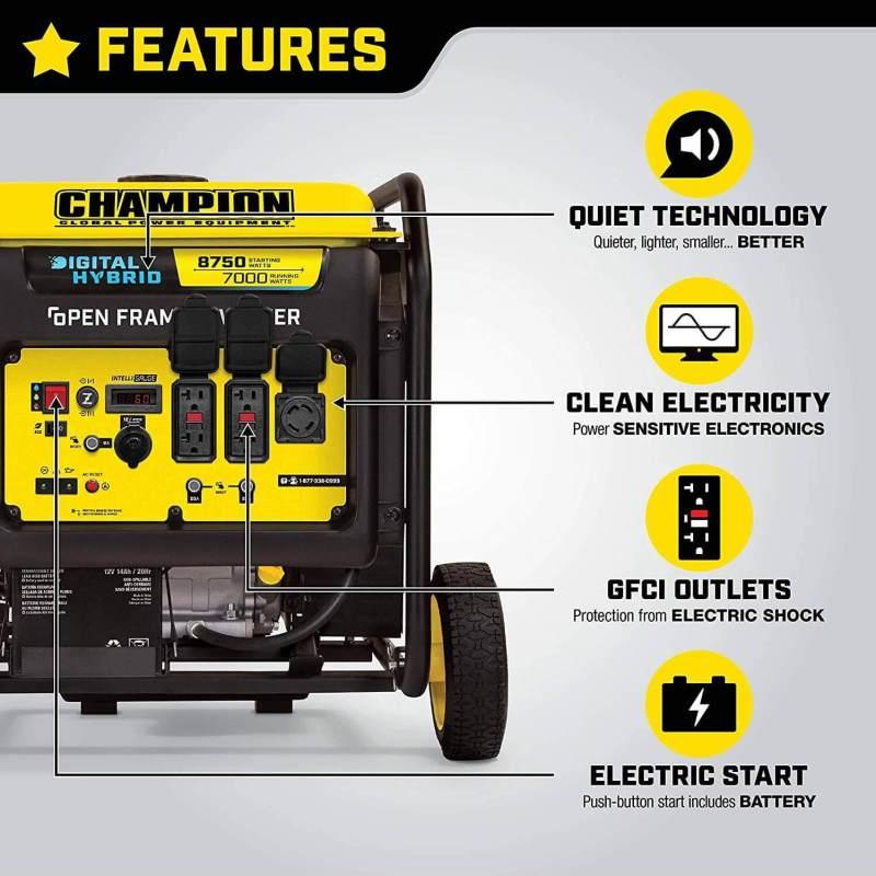 Details about Champion Power Equipment 100520 8750-Watt DH Series Open Frame Inverter