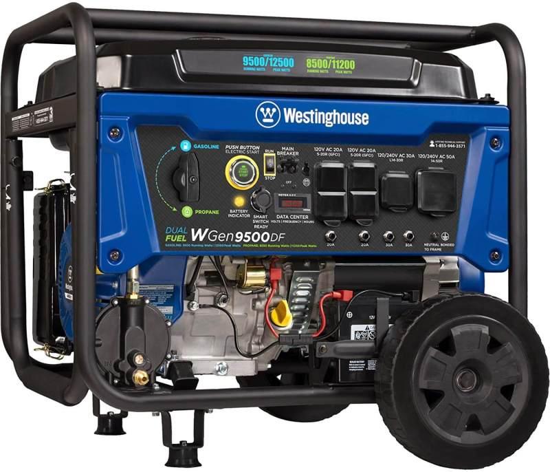 Details about Westinghouse WGen9500DF Dual Fuel Portable Generator-9500