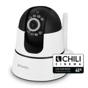VIDEOCAMERA WI-FI +CAMHD ATLANTIS A14-PC7500-MT1 MOTORIZZ. 1280X720P 25FPS H264 8 IR LED(6MT) X SMART ANDROID/AP +CARD 40E CHILI