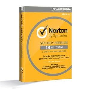 NORTON SECURITY PREMIUM 3.0 - 10 DISPOSITIVI (21355422) BACKUP X WINDOWS/MAC/ANDROID/IOS