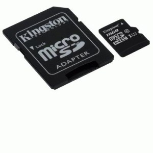 MICRO SECURE DIGITAL 16GB SDC10G2/16GB CLASS10 UHS-I 45MB/S + ADATTATORE KINGSTON