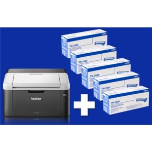 Stampante Brother Laser Hl-1212w + 5 Toner 1k Inclusi - A4  20ppm Usb Wifi 150fg Adf Iprint&scan Fino:31/08