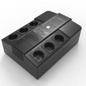 Ups Elsist Multistation 1000 A Multipresa 3prese Ups 1000va 3prese+rj45 Filtrate +usb Xcharger +usb  Fino:31/07