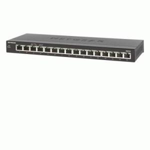Switch 16p Lan Gigabit Netgear Gs316-100pes Serie 300 Con Alim.esterno - Metallo - Gar. 3 Anni