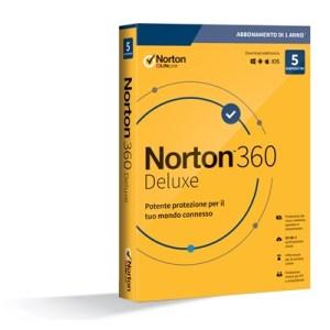 Norton 360 Deluxe 2020 -- 5 Dispositivi (21397535) - 50gb Backup Fino:31/08