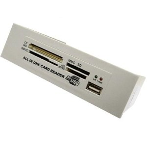 """Card Reader Interno 5.25"""" Ivory All In One + 1xusb"""