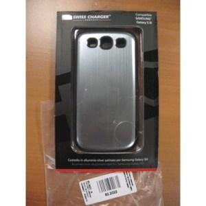 Custodia X Samsung Galaxy Siii Scp60037 Swiss Charger In Alluminio Silver Satinato