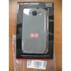 Custodia X Samsung Galaxy Siii Scp30037c Swiss Charger In Silicone Trasparente