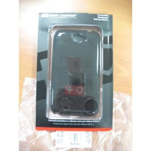 Custodia X Samsung Galaxy Note2 Scp30041 Swiss Charger In Silicone Nero