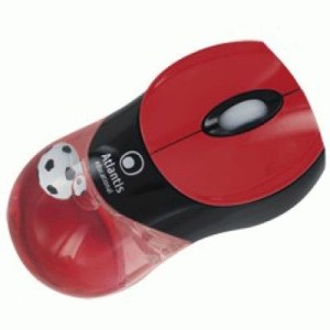 Mouse Usb Atlantis E009-muk-rn Linea Educational - 2 Tasti Con Scroll - Rosso/nero - Ean 8026974015286 -garanzia 2 Anni-
