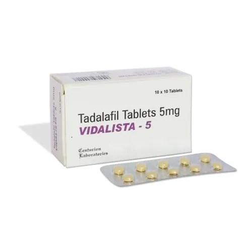 Vidalista 5mg (Tadalafil)