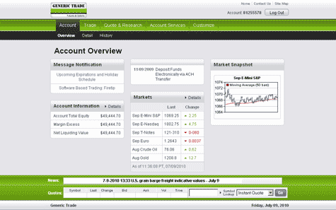 Generic Trader Online Overview