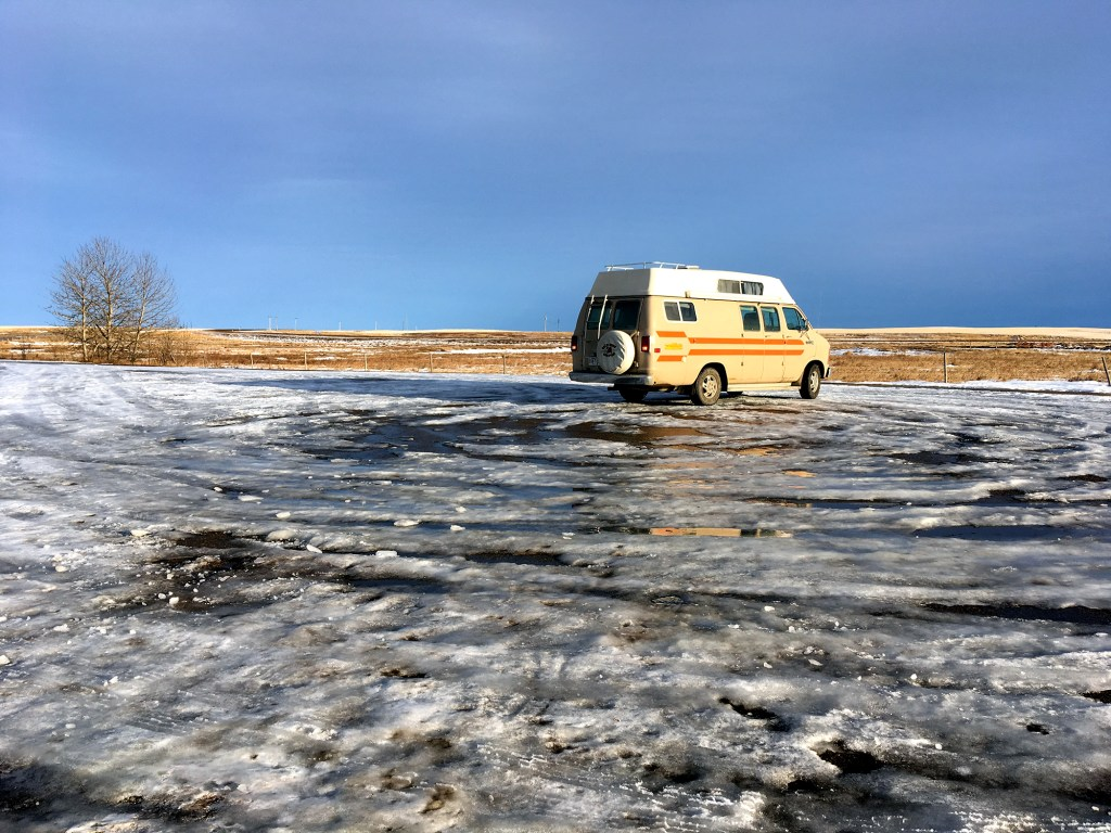 Generic Van Life - Drumheller - Clementine At Horse Thief Canyon