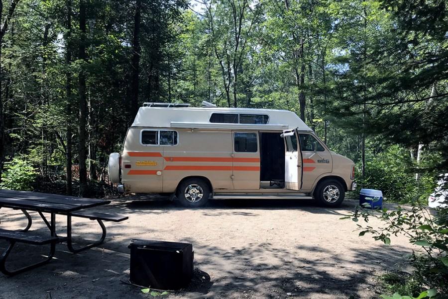 Generic-Van-Life-Camping-Spot-Magregor-Point-Provincial-Park-Ontario-Van