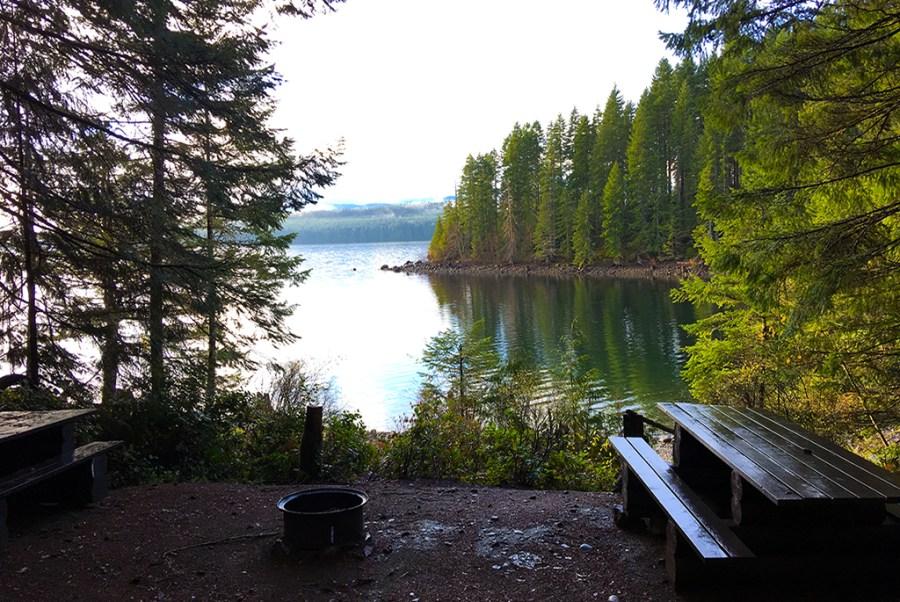 Generic-Van-Life-Camping-Spot-Burnt-Beach-British-Columbia-Lake