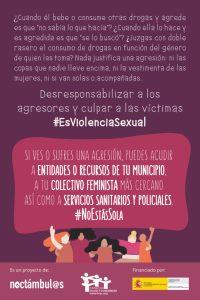 #EsViolenciaSexual violencia alcohol género