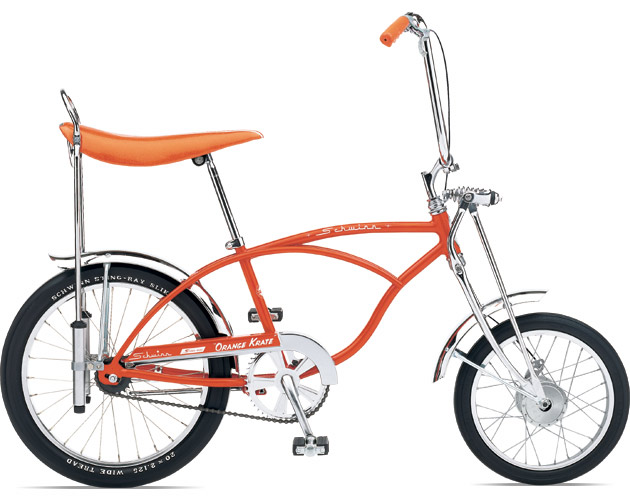 The predecessor to the Chopper, Schwinn's 'Orange Krate'