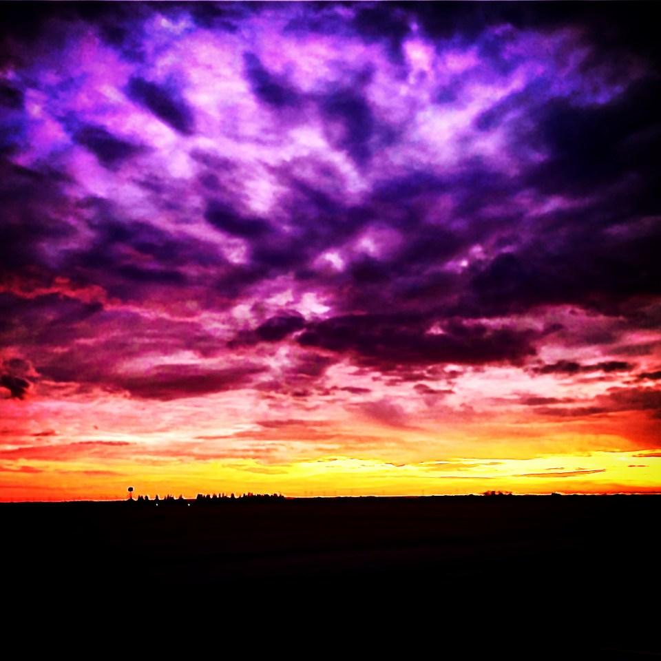 West of Princeton, Illinois. 9 November 19. Harvest dust is stardust, indeed.