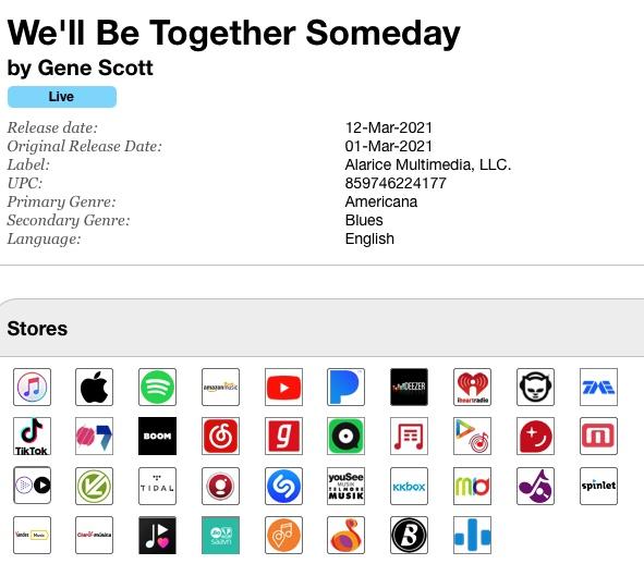 We'll Be Together Again Someday Album Release