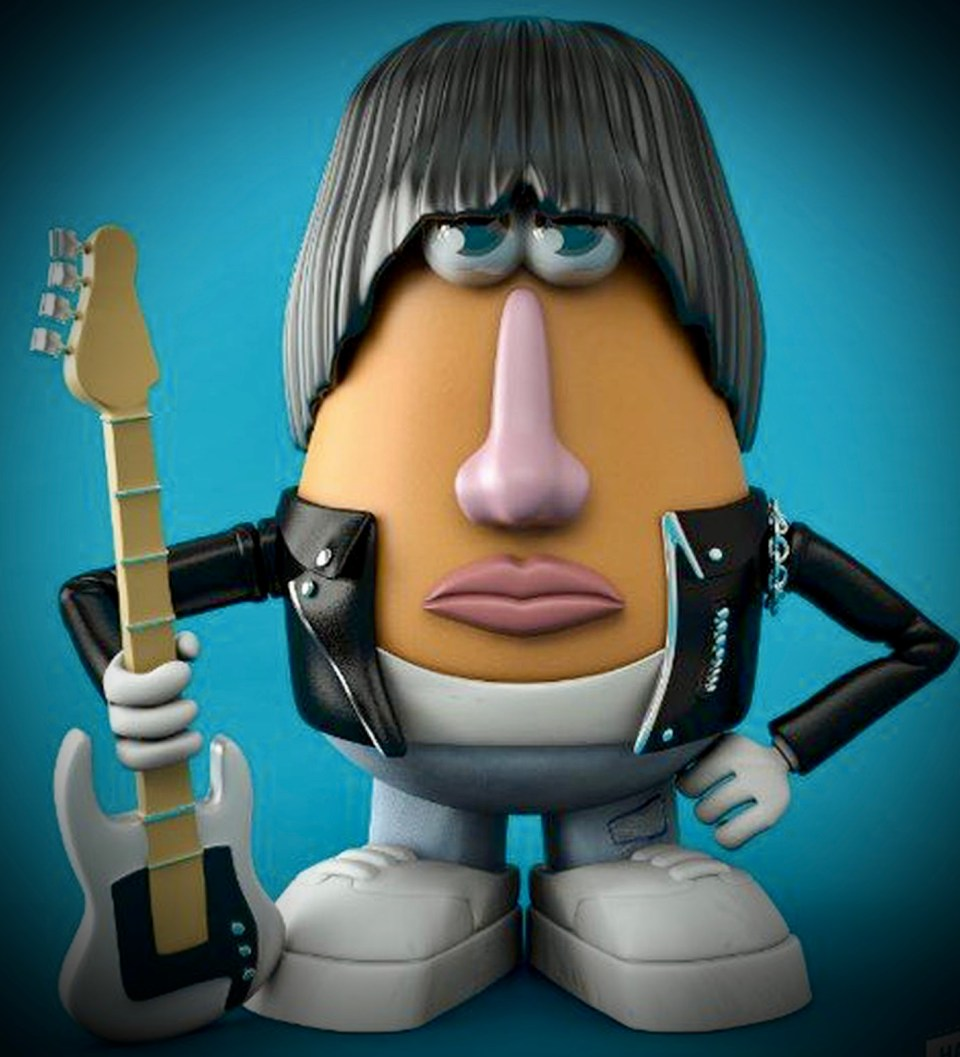 Dee Dee Ramone Potato Head bt Nacho Tamez and Leo Kambayashi of Media Bullys