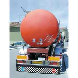 Coppia paraspruzzi camion in pvc con segnali – 240×37 cm