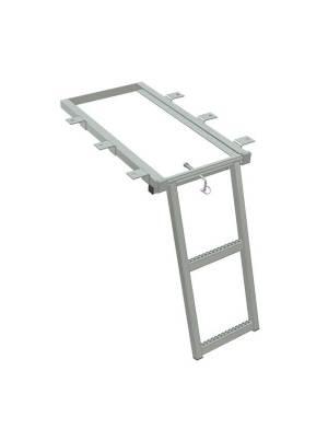 Scaletta leggera zincata estraibile a 2 gradini