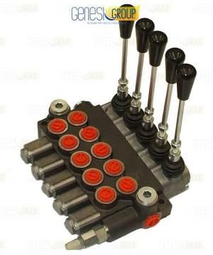 Distributore idraulico GHIM a 5 leve doppio effetto 3/8 – Oleodinamico