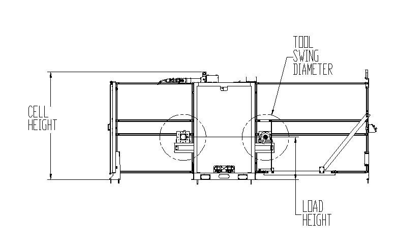The Versa RC3L center mount robot design maximizes