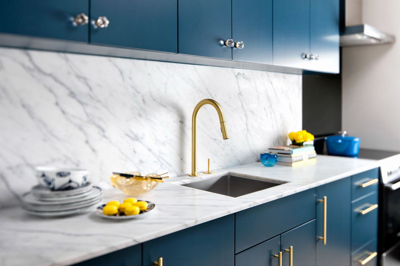 gold kitchen faucet hobo cabinets trends genesis kitchens