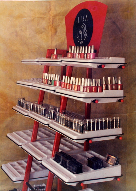 Modular product display stand for cosmetics