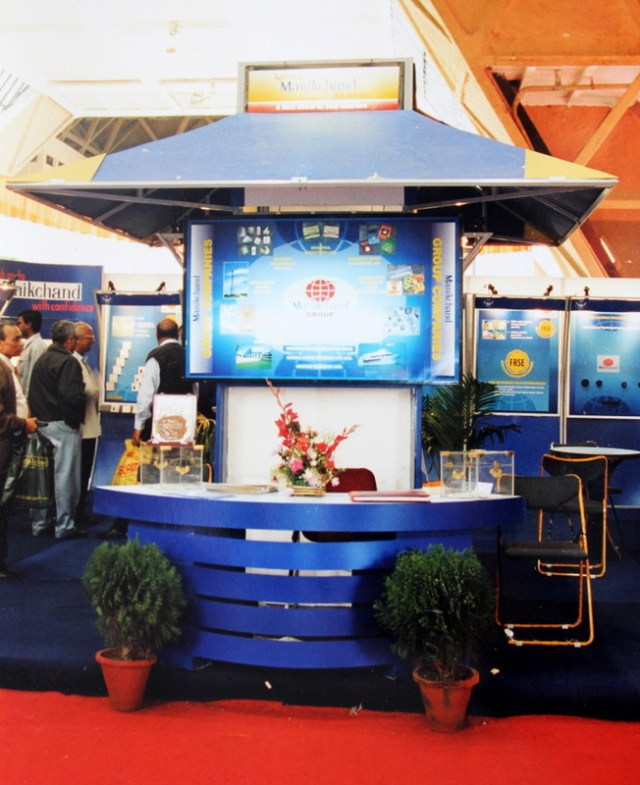 Modular exhibition stall designed for Manikchand Switches