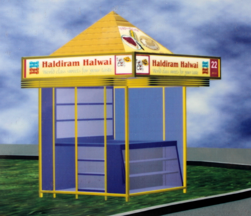 A Modular shop unit designed for food courts at Expressway