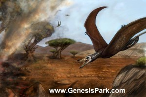 Pterosaur in Frankincense Tree with Smoke SMALL