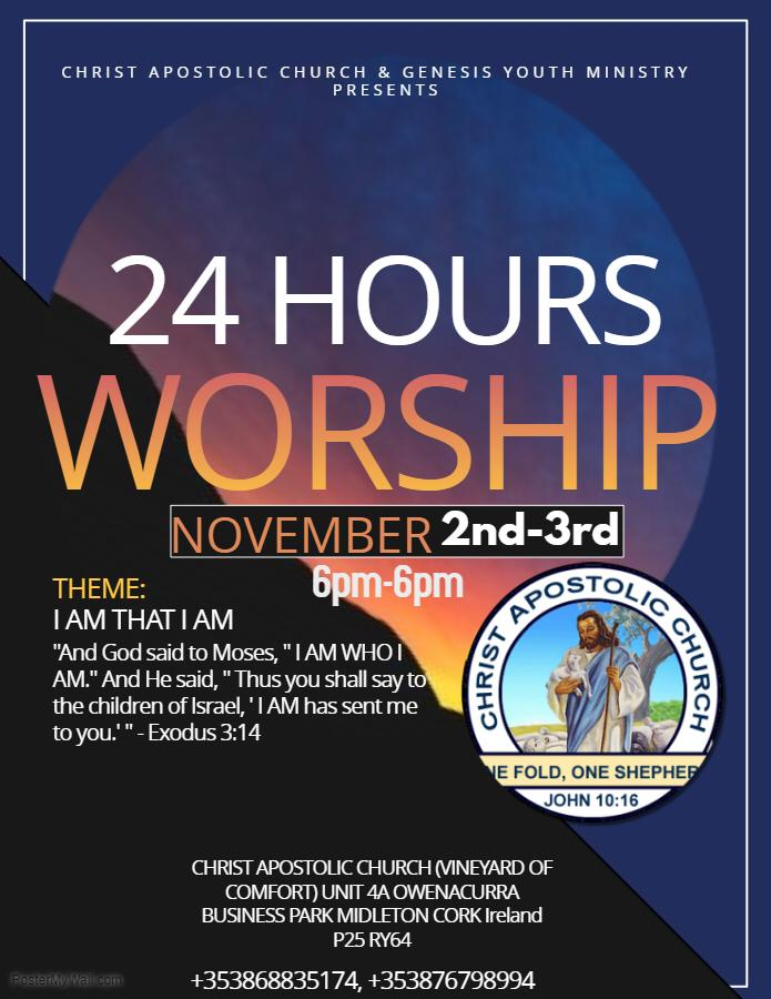 Ireland Cork 24HoursWorship2018Ire - 2nd-3rd Nov. - 6pm