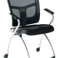 Folding Chair Uk Green Dining Covers Flipper Mesh Genesys Office Furniture