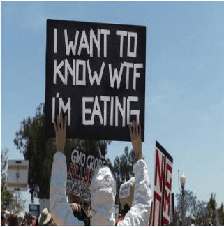 "Sign ""I want to know WTF I'm eating"""