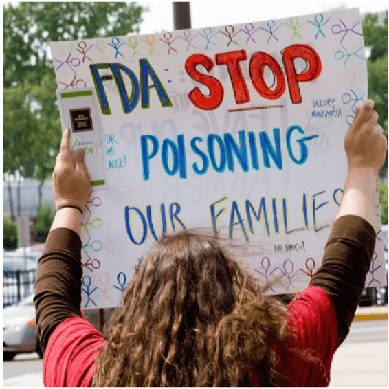 "Sign ""FDA stop poisoning our families"""