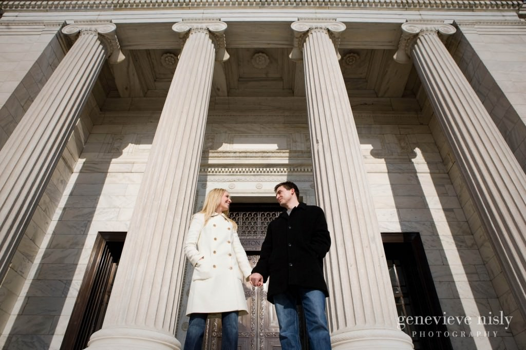 Cleveland, Cleveland Museum of Art, Copyright Genevieve Nisly Photography, Engagements, Ohio, Winter