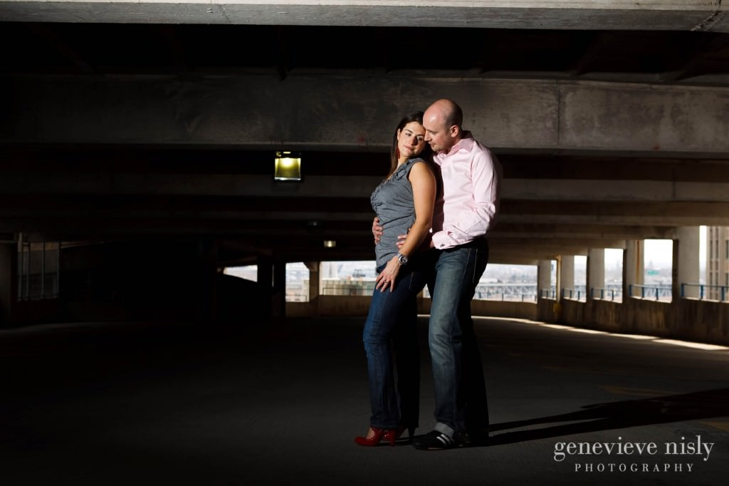 Cleveland, Copyright Genevieve Nisly Photography, Downtown Cleveland, East 4th St., Engagements, Ohio, Winter