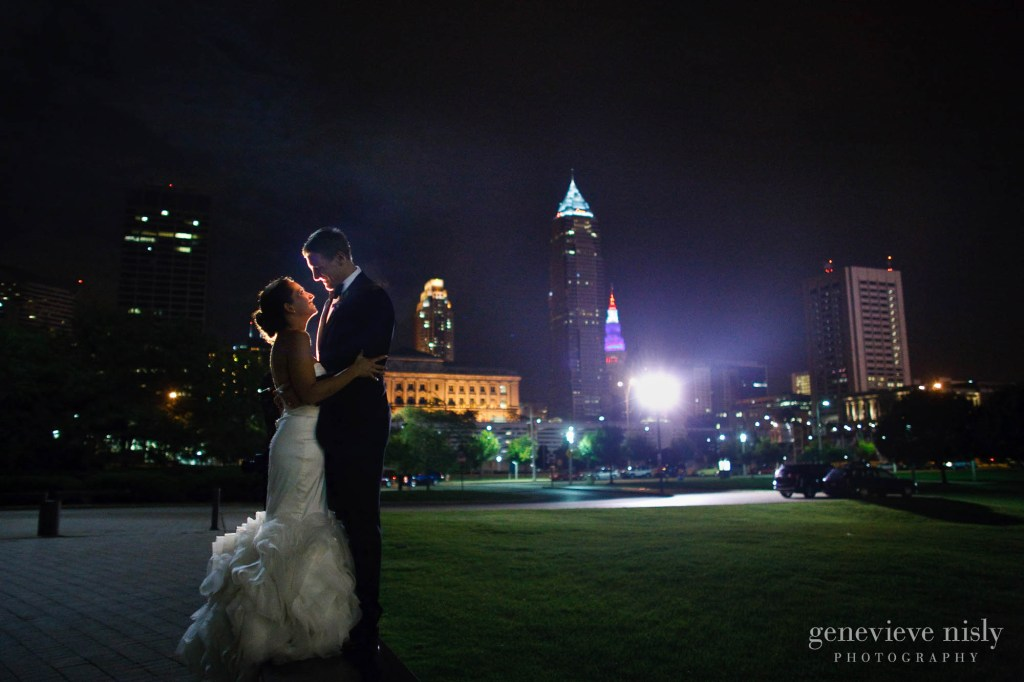 Cleveland, Copyright Genevieve Nisly Photography, Ohio, Rock and Roll Hall of Fame, Summer, Wedding