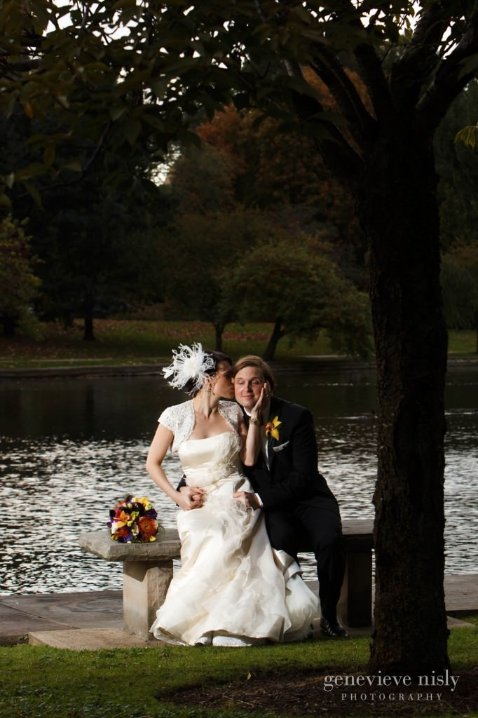 Cleveland, Copyright Genevieve Nisly Photography, Fall, Ohio, Wade Lagoon, Wedding