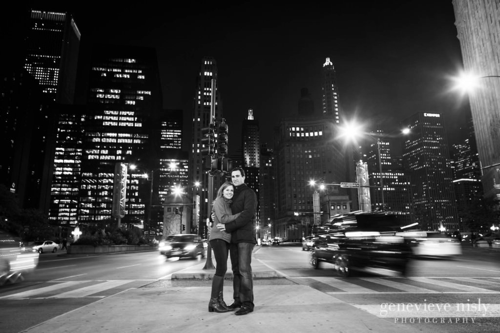 Chicago, Copyright Genevieve Nisly Photography, Engagements, Illinois, Michigan Avenue Bridge, Summer