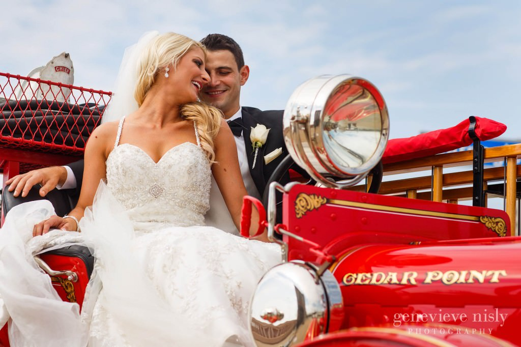 Copyright Genevieve Nisly Photography, Summer, Wedding, Western Reserve Fire Museum
